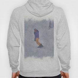 Sliding into Home - Winter Snowboarder Hoody