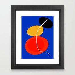 red yellow black blue abstract zen minimal art Framed Art Print