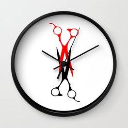 Scissoring Scissors Wall Clock