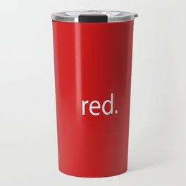 red. Travel Mug