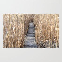 Through the reed Rug