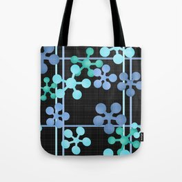 Black blue green abstract pattern Tote Bag
