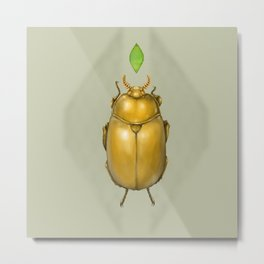 Gold bug Metal Print