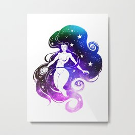 Space Witch Metal Print