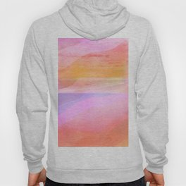 Seascape in Shades of Peach Purple and Pink Hoody