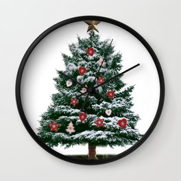 Christmas Tree by Chrissy Wall Clock