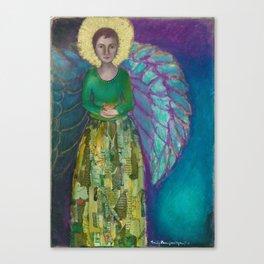 Angel & Bird Canvas Print