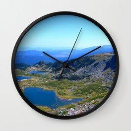 seven rila lakes Wall Clock