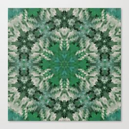 Green mandala  2 Canvas Print