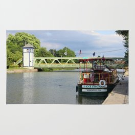 Boat Docked on the Erie Canal Rug