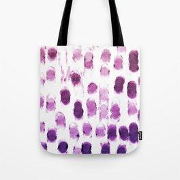 Purple Watercolor Brush Strokes Pattern Tote Bag