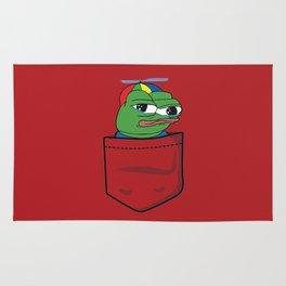 Apu Apustaja tee pocket PepeTheFrog me smart RED Rug