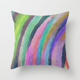 Color Arc Throw Pillow