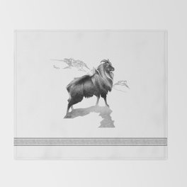Tahr / Thar Throw Blanket