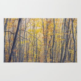 Yellow forest Rug