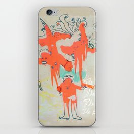 The Victim, The Villain, The Hero, The Bystander iPhone Skin