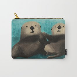 Sea Otters in Love Carry-All Pouch