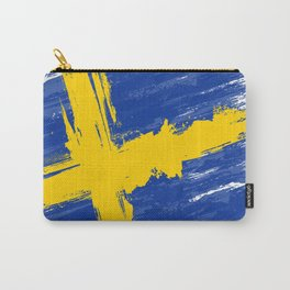Sweden's Flag Design Carry-All Pouch