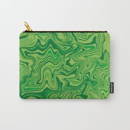 Green Agate Liquid Marble Carry-All Pouch