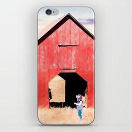 Boy and a Barn #digitalpainting iPhone Skin