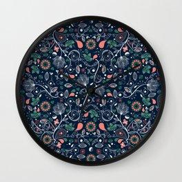Seamless Paisley Pattern 2 Wall Clock