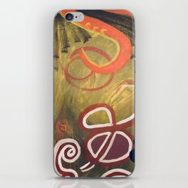 Green and Red Abstract Painting iPhone Skin