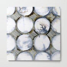 WATERCOLOUR DISCS: White Howlite (detail ) Metal Print