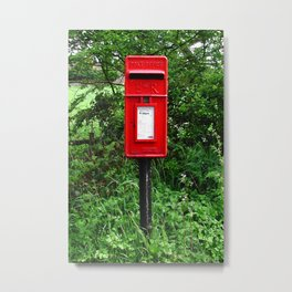 Red UK Letterbox Painting Metal Print