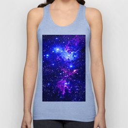 Fox Fur Nebula Galaxy blue purple Unisex Tank Top