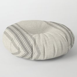 Farmhouse linen grey rustic grain sack texture vintage farmhouse lined linen design modern rustic Floor Pillow
