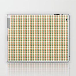Small Orange White and Green Irish Gingham Check Plaid Laptop & iPad Skin