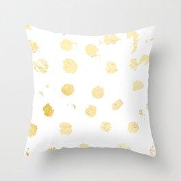 Foil Spots Throw Pillow