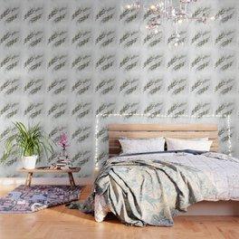 Eucalyptus Leaves White Wallpaper