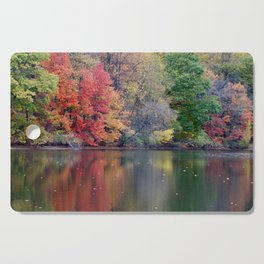 Painted Water at Autumn Cutting Board