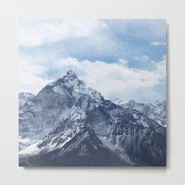 Snowy Mountain Peaks Metal Print