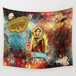 Katniss - Girl on Fire Wall Tapestry