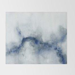 Indigo Abstract Painting   No.3 Throw Blanket