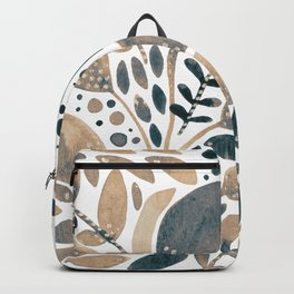 Watercolor branches and leaves - neutral Backpack