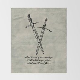 Shakespeare - Macbeth - Courage to the Sticking Place Throw Blanket