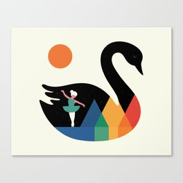Swan Dance Canvas Print
