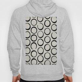 Polka Dots Circles Tribal Black and White Hoody