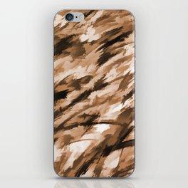 Beige on Beige Designer Camo pattern iPhone Skin