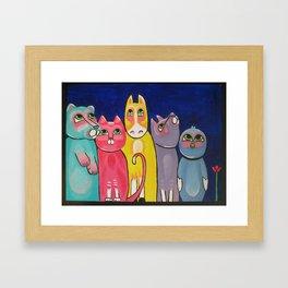 Night Gathering Framed Art Print