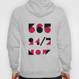 365 24/7 NOW Motivation Poster Hoody