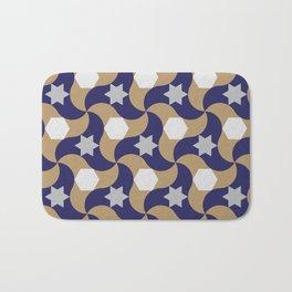 Geometric arabic pattern Bath Mat