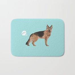 german shepherd funny farting dog breed gifts Bath Mat