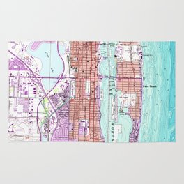 Vintage Map of Palm Beach Florida (1946) Rug