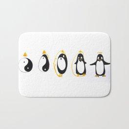 Yin Yang Penguin Bath Mat