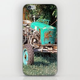 Old traditional Lindner tractor | conceptual photography iPhone Skin