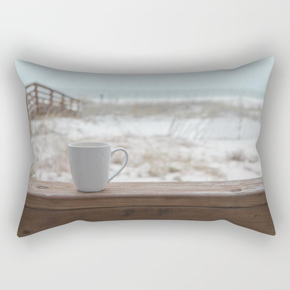 Cuppa At The Beach Rectangular Pillow RPW9074305